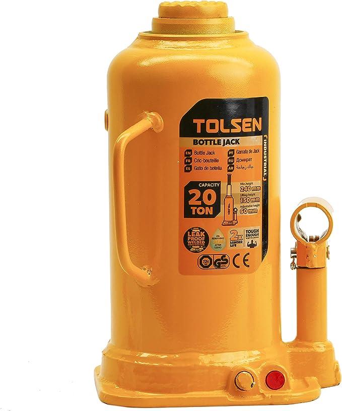 Cric Bouteille hydraulique 10 tonnes Tolsen