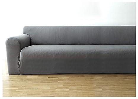 Bellboni Funda de sofá, Forro de sofá, Funda Ajustable bielástica, Apta para Muchos sofás Normales de 3 plazas, Gris