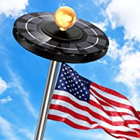 Solar Flag Pole Light, Newest 132 LED 3X Brighter Solar Powered Flagpole Light 100% Flag Coverage Waterproof Solar Light…