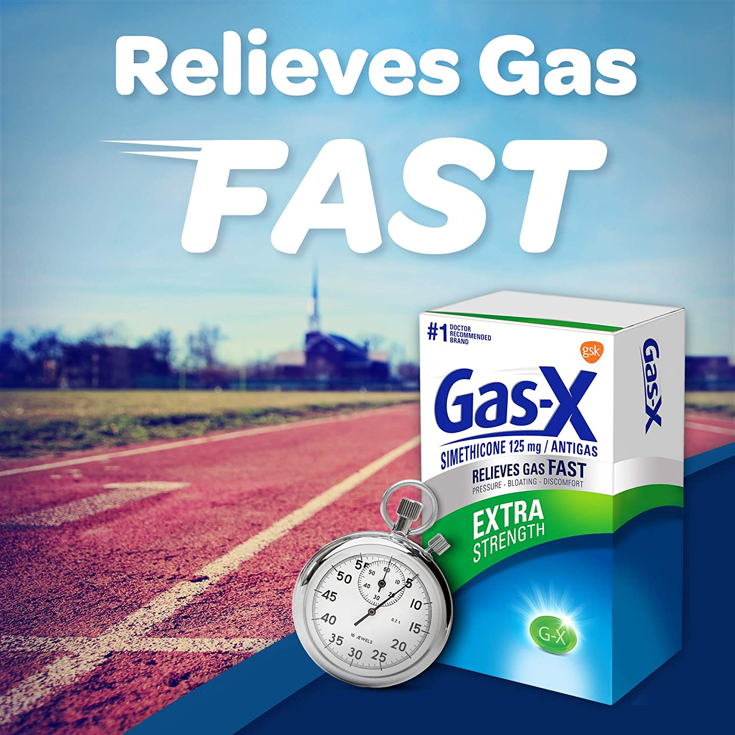 Gas-X Extra Strength Softgel for Fast Gas Relief, 72Count (300439005721): Health & Personal Care