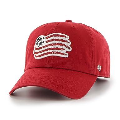 Gorra visera curva roja con logo frontal grande de New England ...