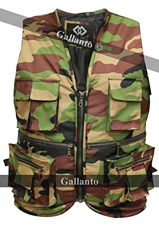 eae6cc666dd91 Military Camouflage Hunter Fisherman's Multi Pocket Mens Womens Vest  Waiscoat ...