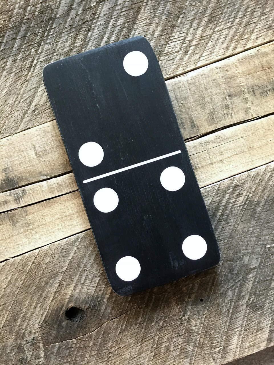 Amazon.com: CELYCASY Familia Domino Madera Cartel Número dos ...