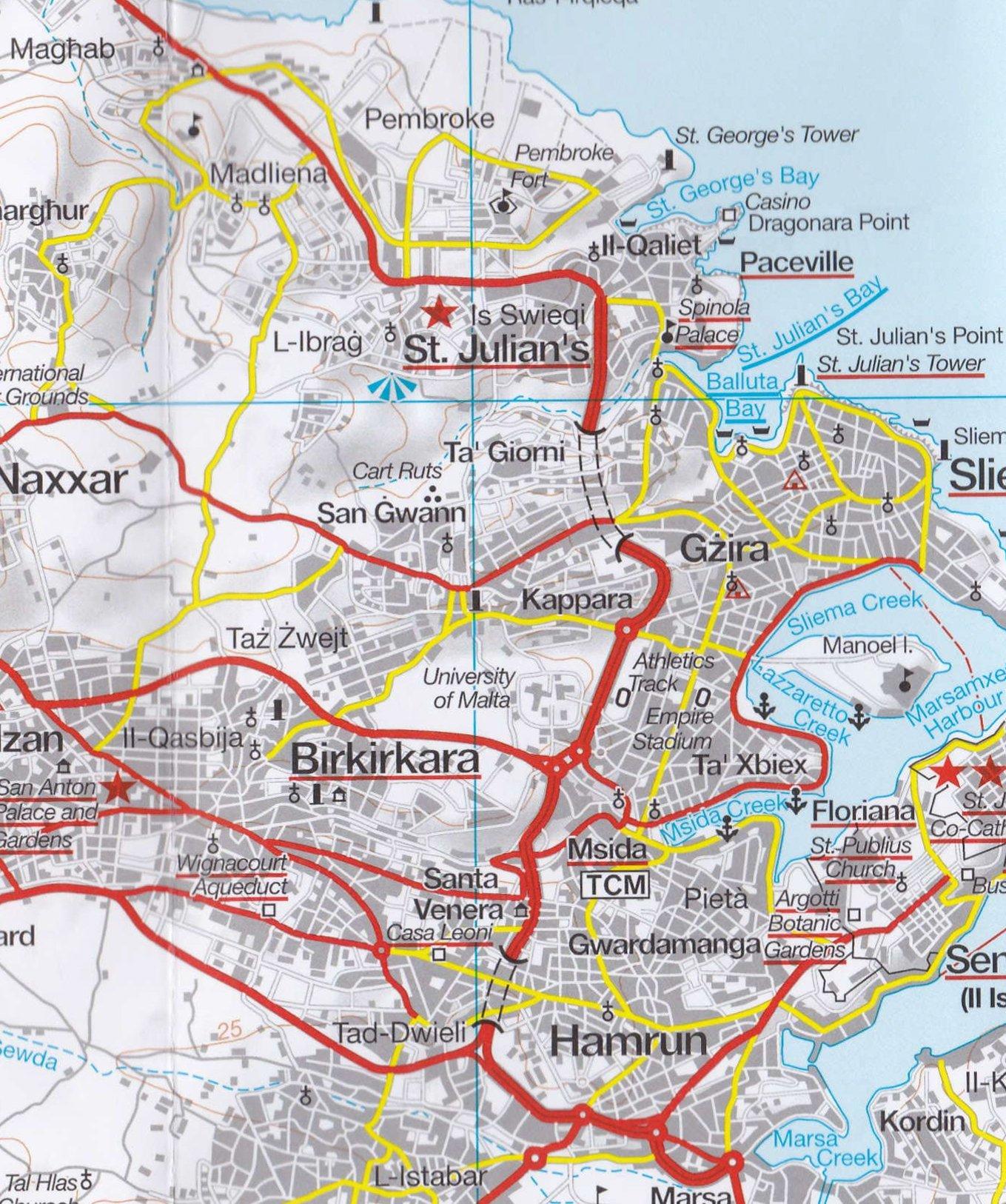 Malta & Gozo Marco Polo Holiday Map (Marco Polo Holiday Maps ...