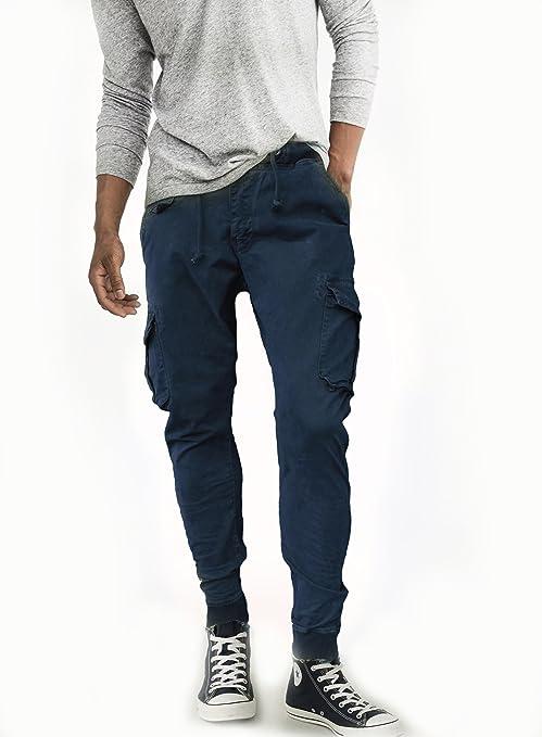 20561dbe42 Fun Coolo Pantaloni Lunghi Uomo Cargo con tasconi Laterali, Slim Fit