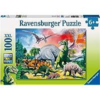 Ravensburger 10957 Among The Dinosaurs Puzzle 100pc,Children's Puzzles