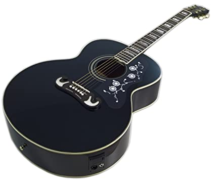 Martin Taylor eléctrico electro Semi Acústico Cuerpo Hueco para guitarra (Negro Mate Satinado) Fender