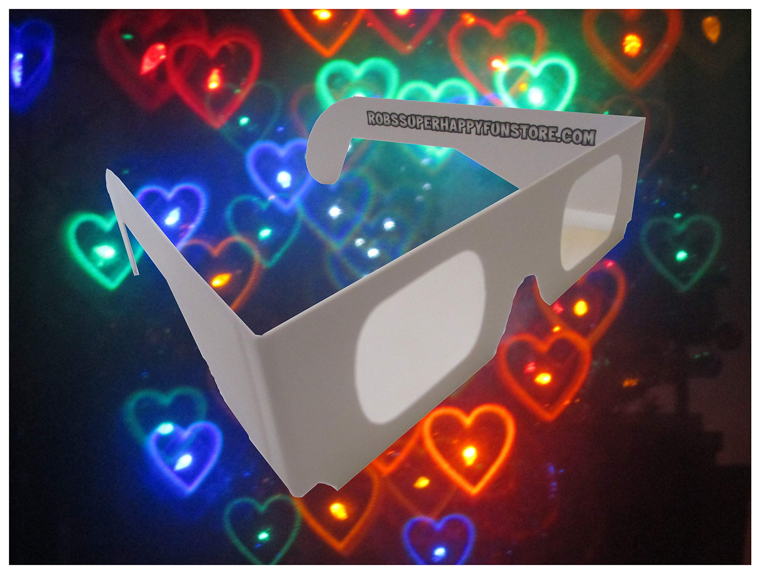 Rob's Super Happy Fun Store Rainbow Hearts Fireworks Diffraction Glasses - 50 Glasses - Paper Frames by Rob's Super Happy Fun Store