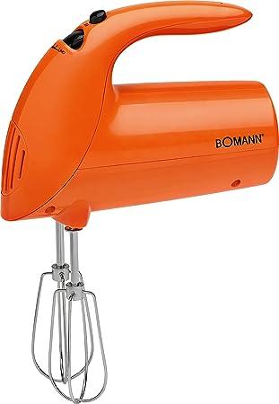 Bomann HM 350 CB Batidora de varilla especial repostería, 250 W, 5 Velocidades, Naranja