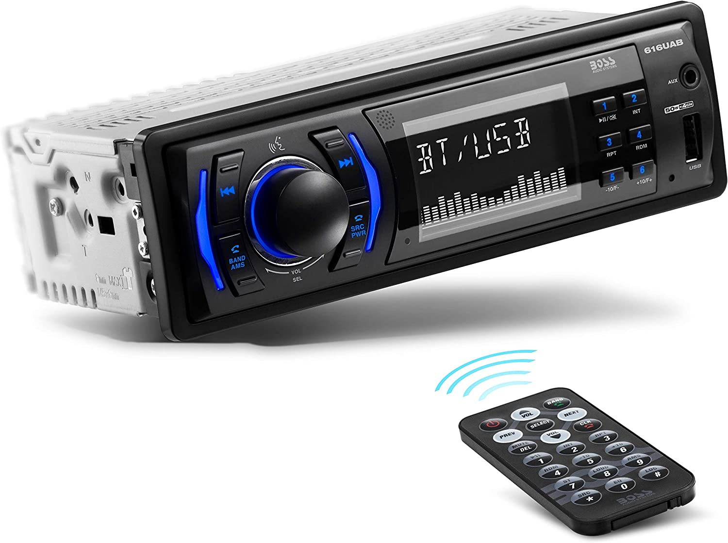 Amazon.com: BOSS Audio Systems 616UAB Multimedia Car Stereo - Single Din  LCD Bluetooth Audio and Hands-Free Calling, Built-in Microphone, MP3/USB,  Aux-in, AM/FM Radio Receiver: Car ElectronicsAmazon.com