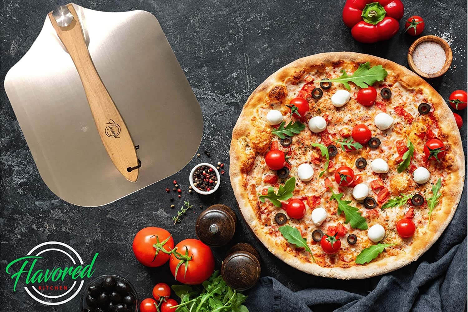 Sturdy Pizza Spatula Shovel for Homemade Pizza /&/ Bread Lovers in the Oven or BBQ Grill Restaurant Grade 12 x 14 Inch Pizza Paddle Aluminum Metal Pizza Peel and Foldable Wood Handle to Easily Store