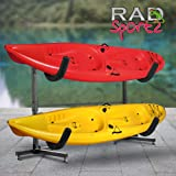 RAD Sportz Indoor Outdoor Freestanding Heavy Duty Two Kayak Storage Kayak or Paddle Board Storage Rack System