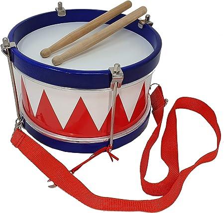 Tambor infantil para niños ROCKSTAR SMD105RD color blanco y rojo de Rockmusic: Amazon.es: Instrumentos musicales