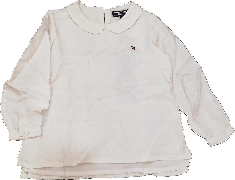 Tommy Hilfiger - Blusa Solid Dobby Top L/S - Blusa NIÑA Blanca (24 Meses): Amazon.es: Ropa y accesorios