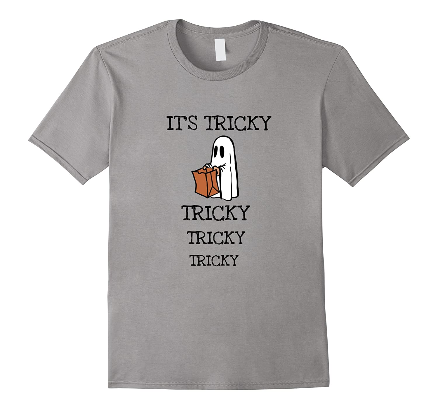 Its Tricky Tricky Tricky funny Halloween Ghost T-Shirt-TJ