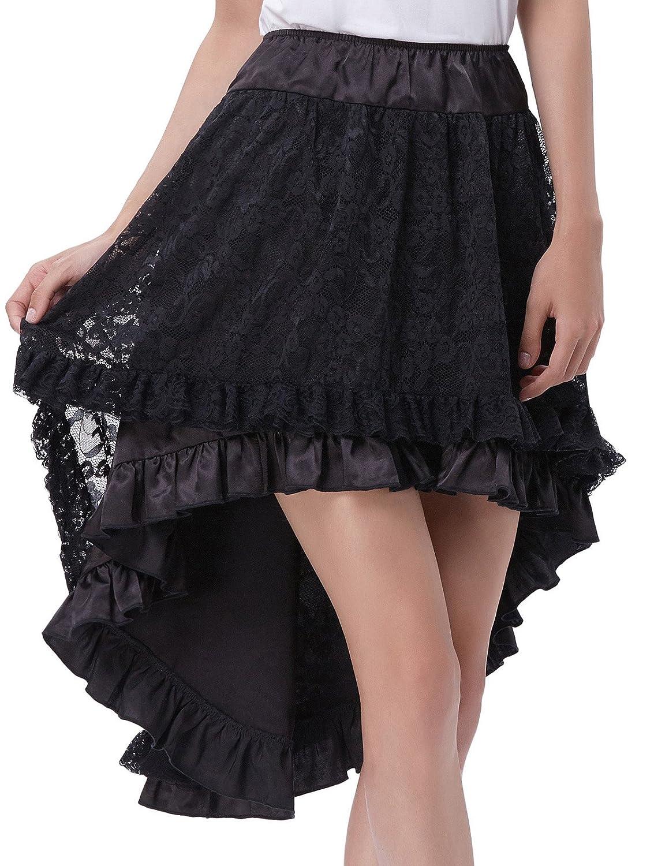 Belle Poque Women's Gothic Steampunk Victorian Amelia Ruffled Cake Skirt 6 Styles