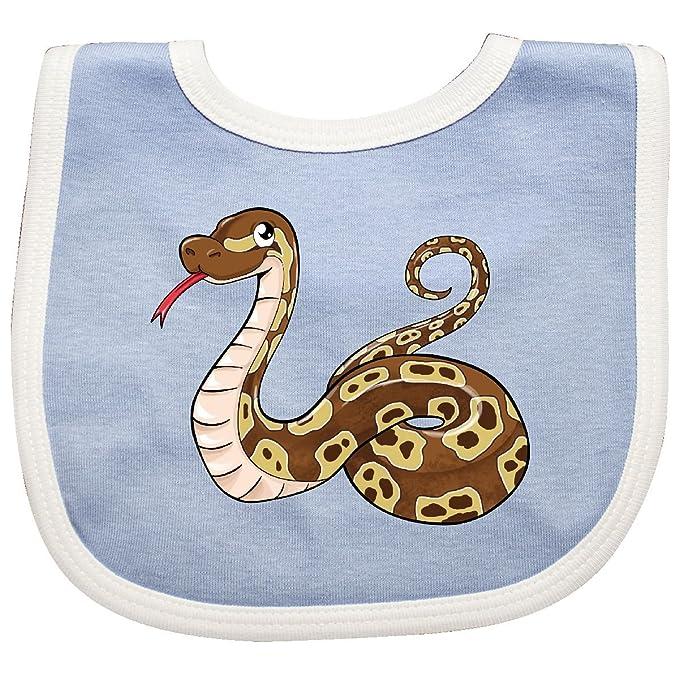 amazon com inktastic cute and cuddly ball python snake baby bib