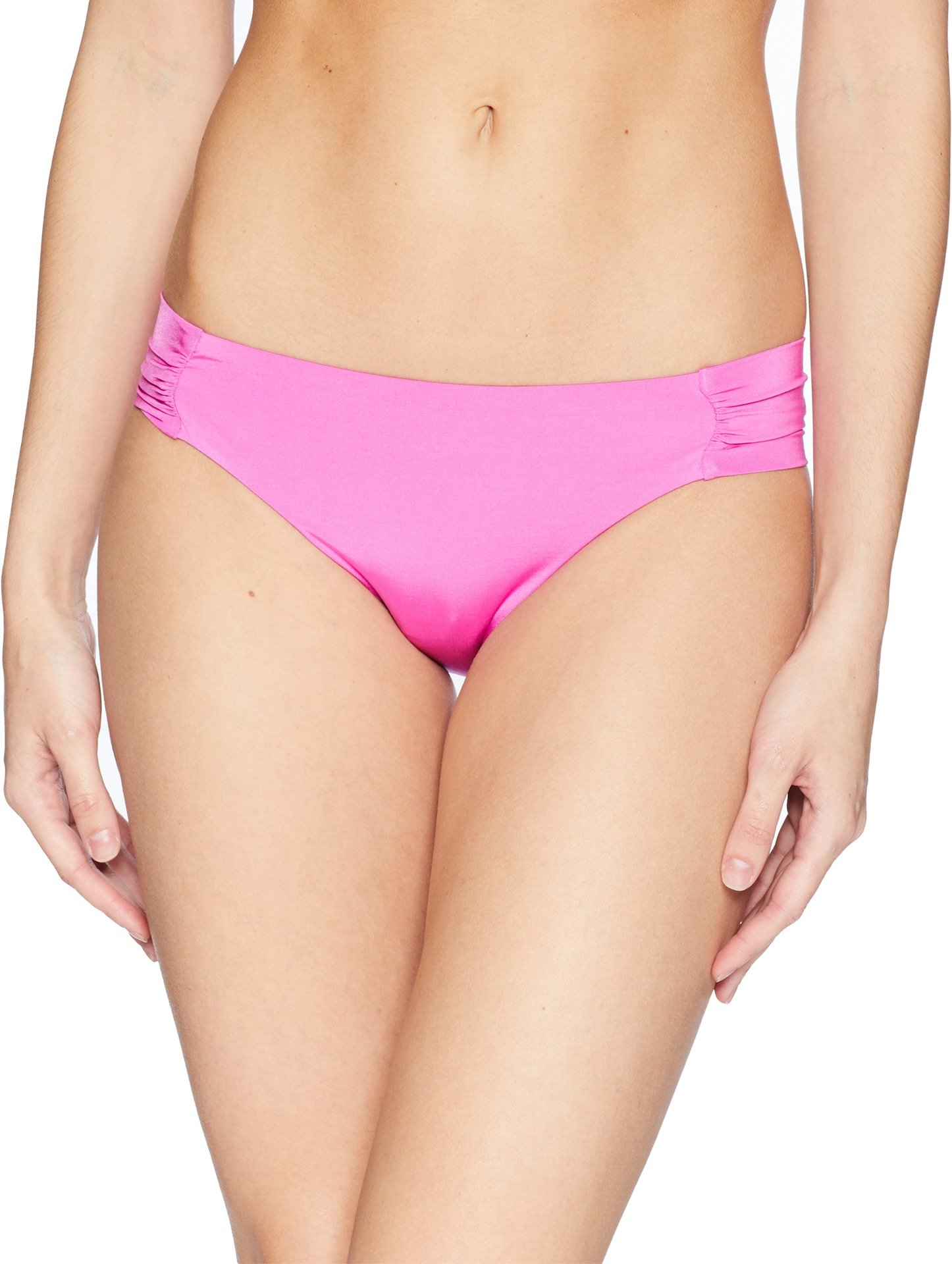 Trina Turk Women's Indo Solids Tab Side Hipster Bikini Bottom Shocking Pink 10