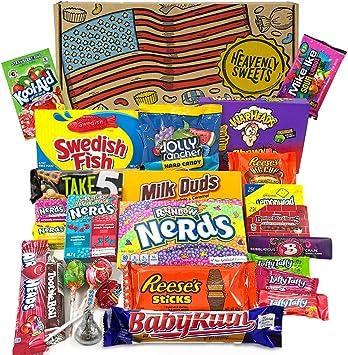 Gran cesta con American Candy   Caja de caramelos y Chucherias Americanas   Surtido de 26 artículos incluido Warhead, Reeses, Nerds, Laffy Taffy   Golosinas para Navidad Reyes o para regalo: Amazon.es: Electrónica
