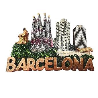Imán para nevera, diseño de Barcelona España en 3D, con texto en ...