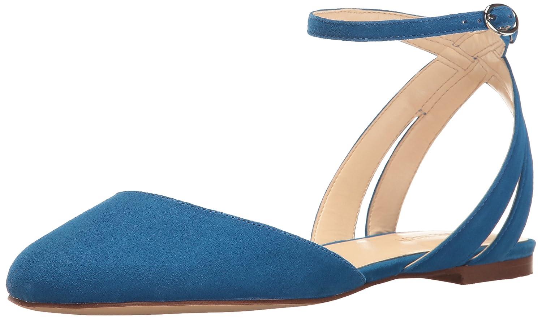 Nine West Women's Begany Suede Ballet Flat B01NBHZFP2 8.5 B(M) US|Blue