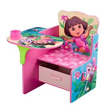 Amazoncom Nickelodeons Dora Chair Desk with Pull out under the