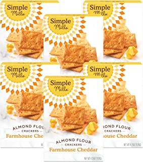 product image for Simple Mills Almond Flour Crackers, Farmhouse Cheddar, Gluten Free, Flax Seed, Sunflower Seeds, Corn Free, Good for Snacks, Made with whole foods, 6 Count (Packaging May Vary)