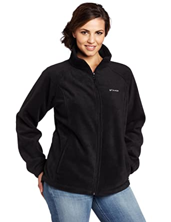 Columbia Women's Plus-Size Benton Springs Full-Zip Fleece Jacket ...