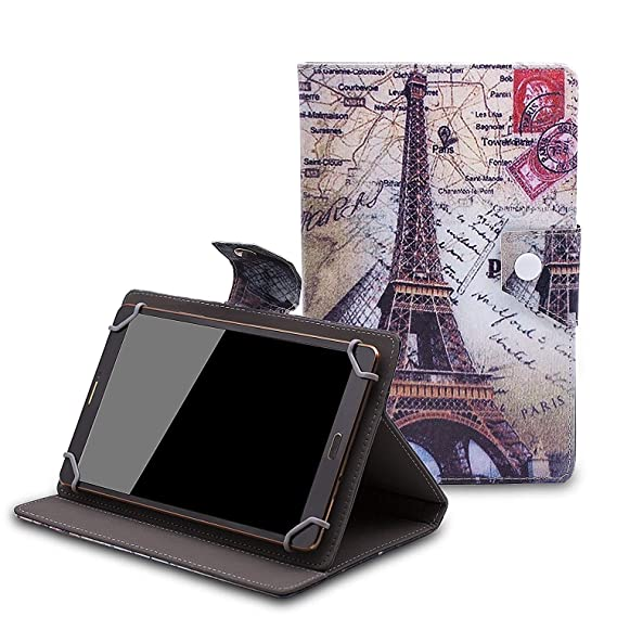 separation shoes 09774 bcf5a Lenovo Tab E10 10.1-inch Tablet Case - Tsmine Universal Lightweight Stand  Folio PU Leather Case Protective Cover for Lenovo Tab E10 Tablet,Eiffel ...