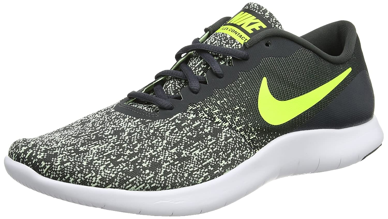 Nike Flex Contact, Zapatillas de Running para Hombre 42.5 EU|Gris (Anthracite/Volt-barely Volt-white)