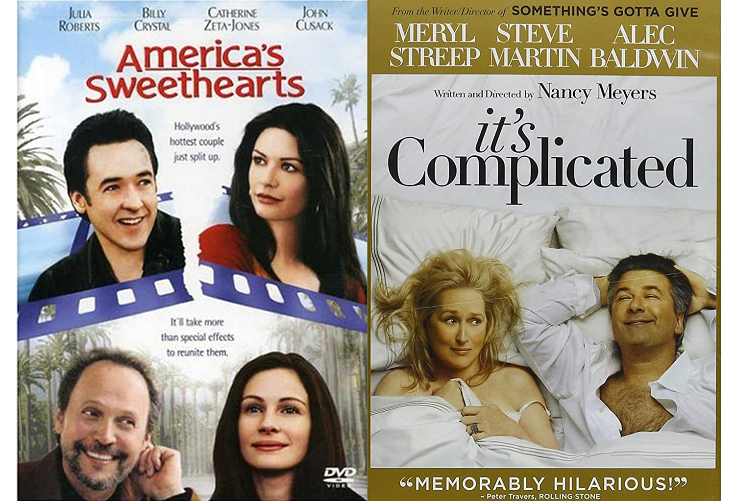 Amazon Com Romantic Comedy Set It S Complicated America S Sweethearts 2 Movie Bundle Julia Roberts Billy Crystal Catherine Zeta Jones John Cusack Meryl Streep Steve Martin Alec Baldwin Nancy Meyers Joe Roth Movies