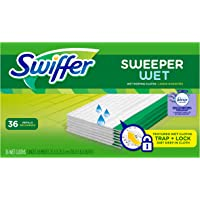 Swiffer Sweeper Wet Mopping Cloth Multi Surface Refills, Febreze Lavender Vanilla & Comfort Scent, 36 count