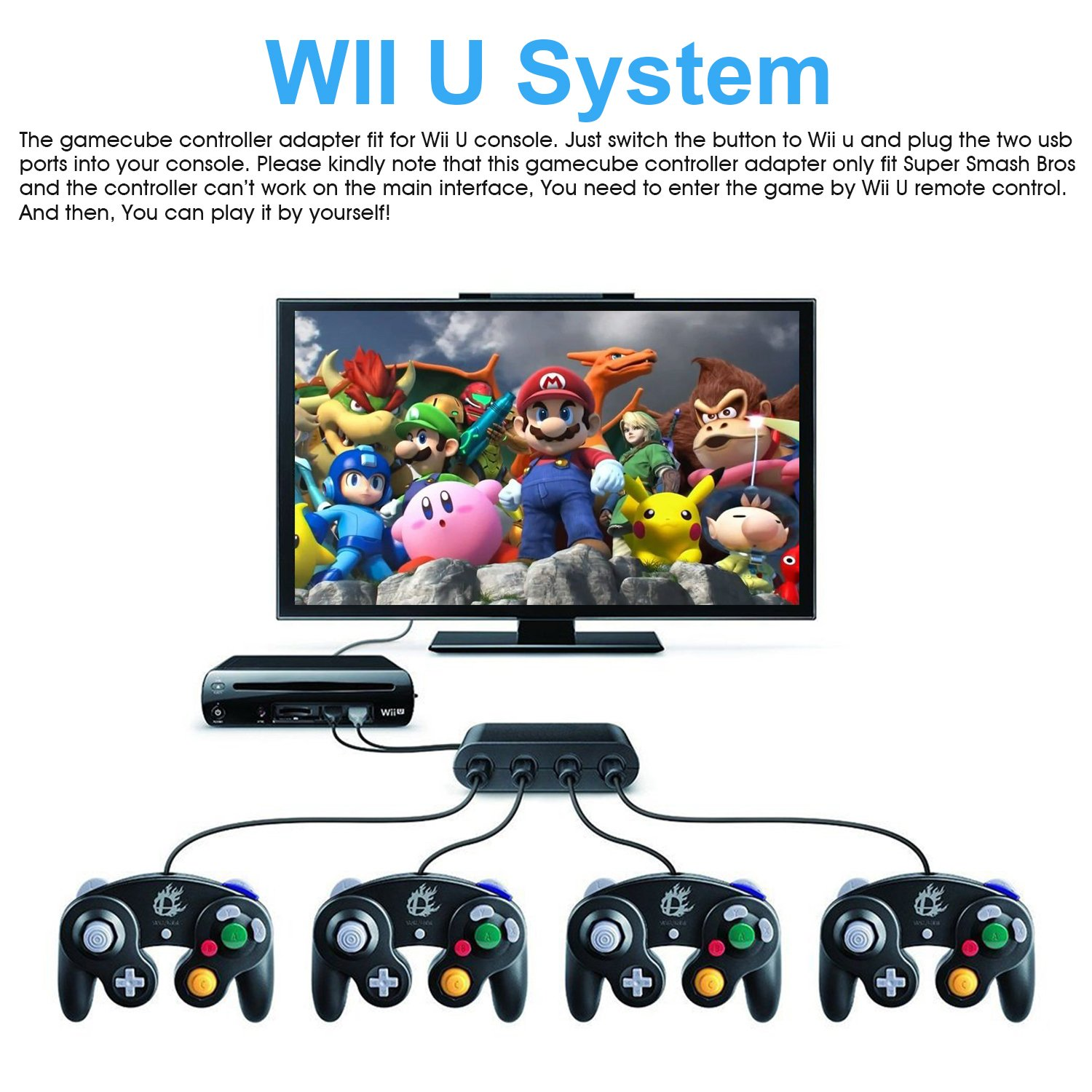 Amazon wii u gamecube controller adapteryteam gamecube ngc amazon wii u gamecube controller adapteryteam gamecube ngc controller adapter for wii unintendo switch and pc usbeasy to plug and no driver need4 solutioingenieria Images