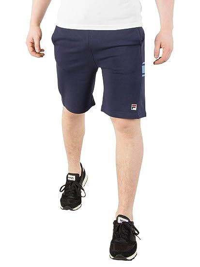 Fila Vintage Men's Mivvi Panelled Sweat Shorts, Blue: Amazon