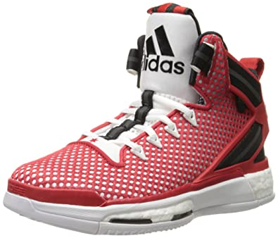 low priced 43381 c242f adidas D Rose 6 Boost J-K, ScarletBlackWhite 5 M US Big