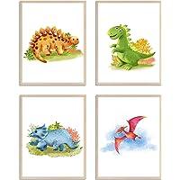 WIETRE® Juego de 4 imágenes de dinosaurio