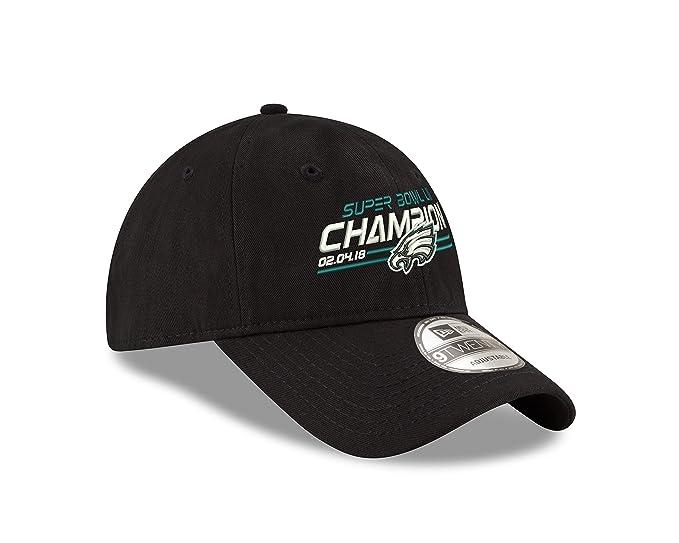 Amazon.com  Philadelphia Eagles New Era Super Bowl LII Champions 9TWENTY  Adjustable Hat  Clothing a8cceba9c12c