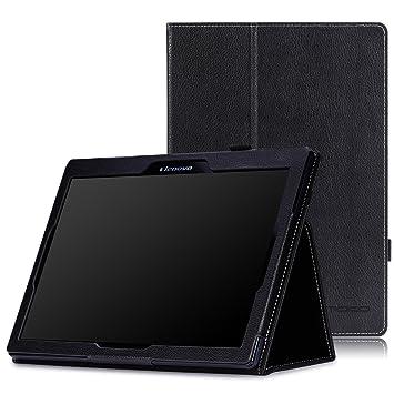 MoKo Lenovo Tab 2 A10 / TAB-X103F Tab 10 - Funda plegable delgada, para Lenovo Tab2 A10-70 / TAB-X103F Tab 10 / Tab3 10 Business Tablet, Negro