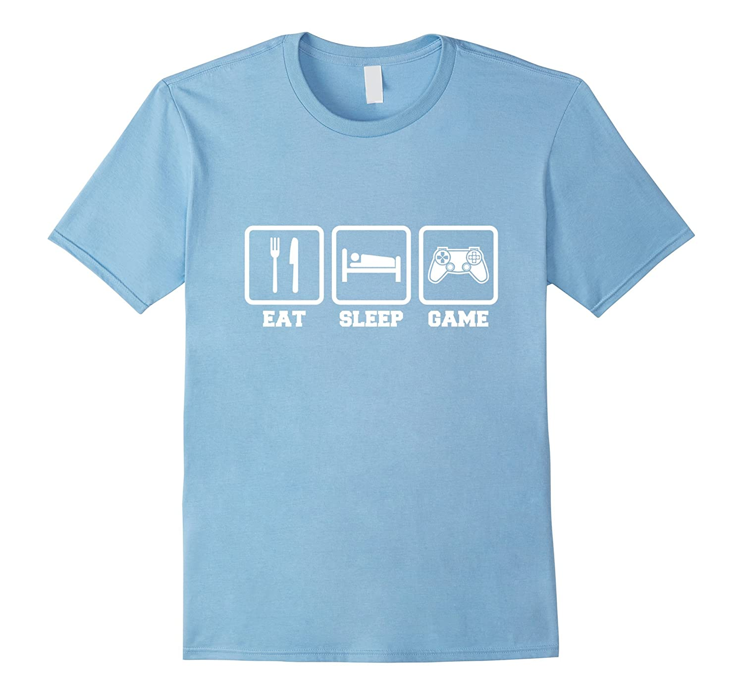 Eat Sleep Game tee  Cool Fun Gamer Geek  Nerd t-shirt-PL
