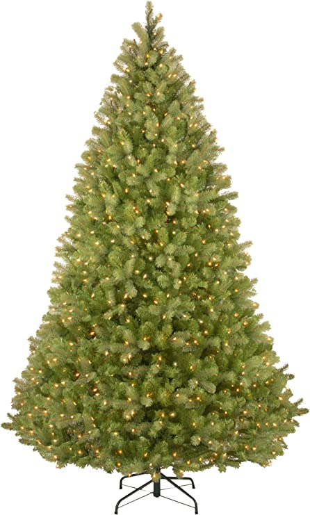 Amazon Com National Tree Company Feel Real Pre Lit Artificial Christmas Tree Includes Pre Strung Multi Color Led Lights Powerconnect And Stand Bayberry Spruce 9 Ft Home Kitchen