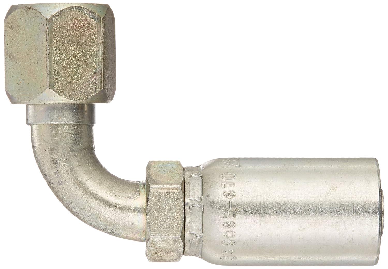 AISI//SAE 12L14 Carbon Steel 5//8 Tube Size 1//2 Hose ID 5//8 Tube Size 1//2 Hose ID SAE 37 Degree EATON Weatherhead Coll-O-Crimp 33608E-670 90 Degree Female Swivel Tube Elbow Fitting