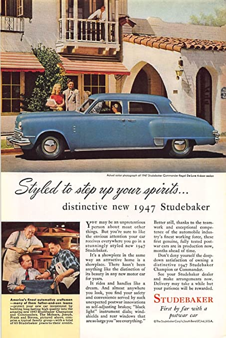 Amazon Com Print Ad 1946 Studebaker First By Far With A Postwar Car Posters Prints