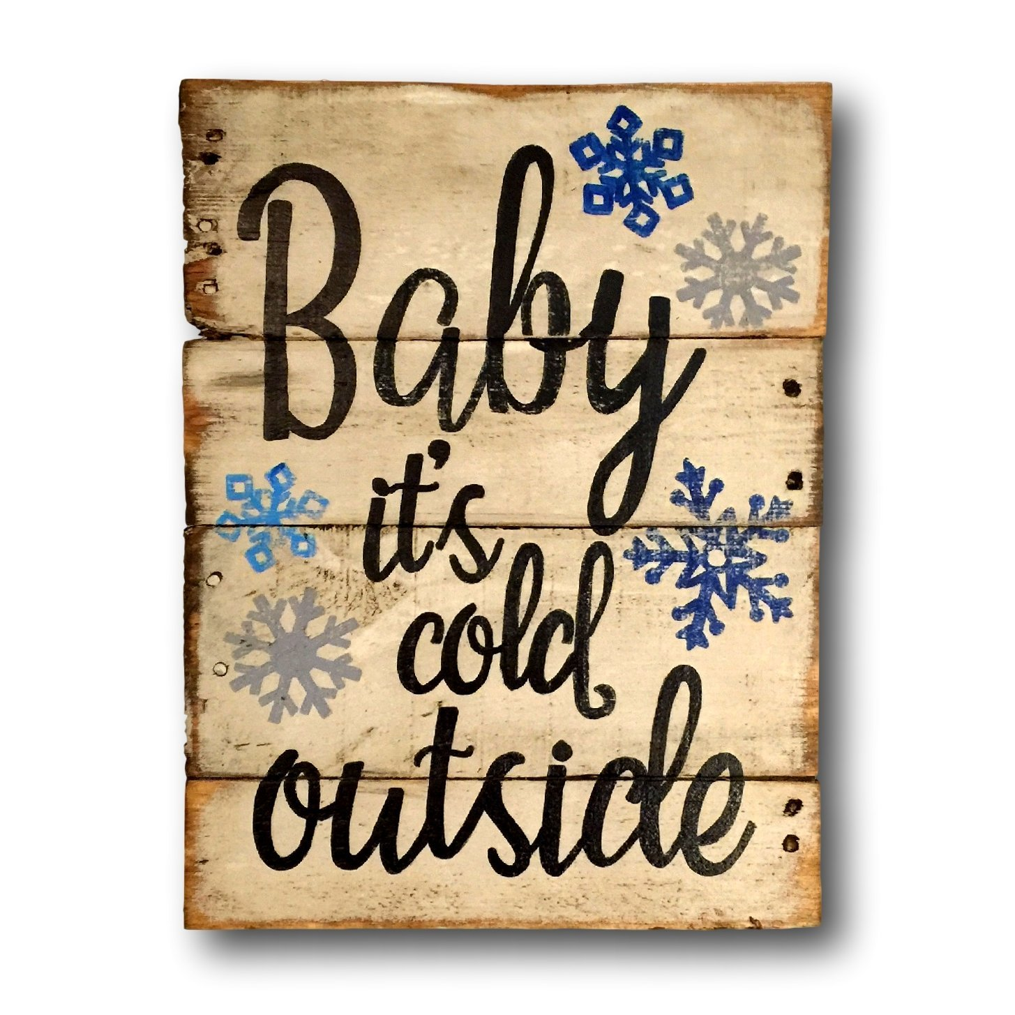 amazoncom baby its cold outside sign rustic christmas decor christmas mantle decoration christmas gift handmade - Christmas Decor Signs