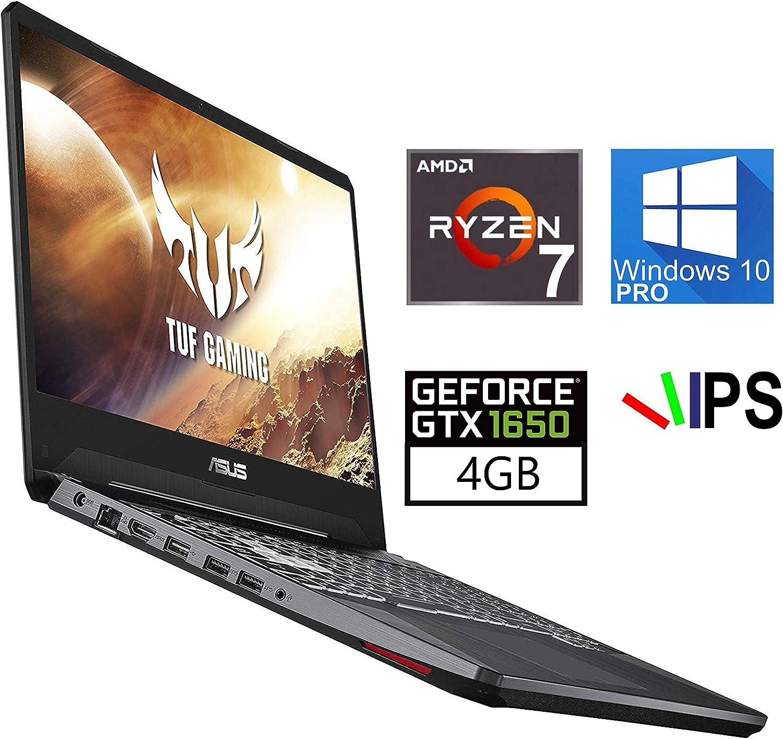 "ASUS TUF 15.6"" Gaming Laptop, AMD Ryzen 7-3750H, NVIDIA GeForce GTX 1650 FHD 4K IPS-Type, 32GB RAM, 1TB NVMe SSD, HDMI, AC Wi-Fi, Bluetooth 5.0 - Windows 10 Pro"