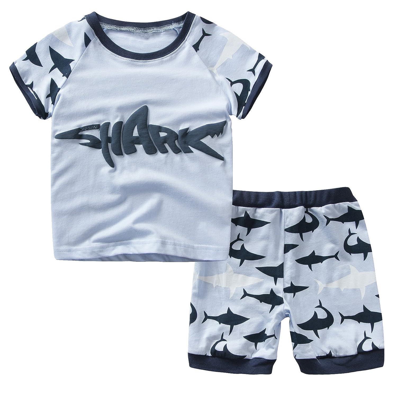 Dreamaxhp Shark Little Boys' Cotton Sleepawear Pajamas Set DMG7448