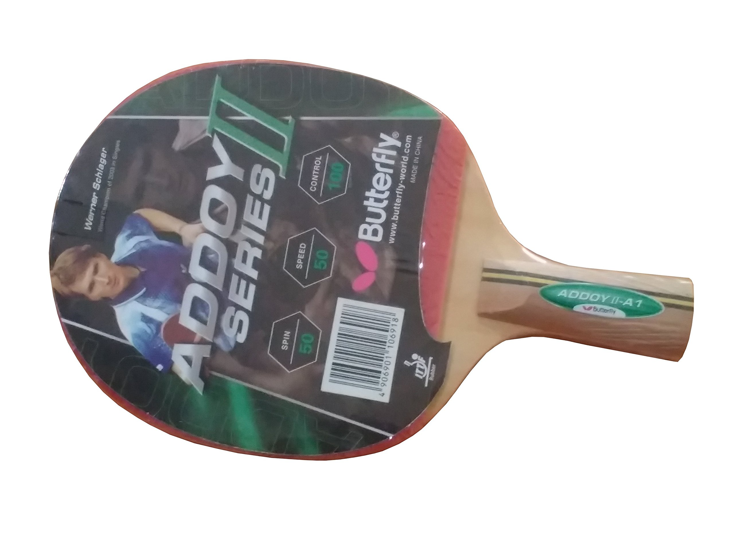 Butterfly ADDOY SERIES II, CS Handle (One side rubber racket), Table Tennis Racket