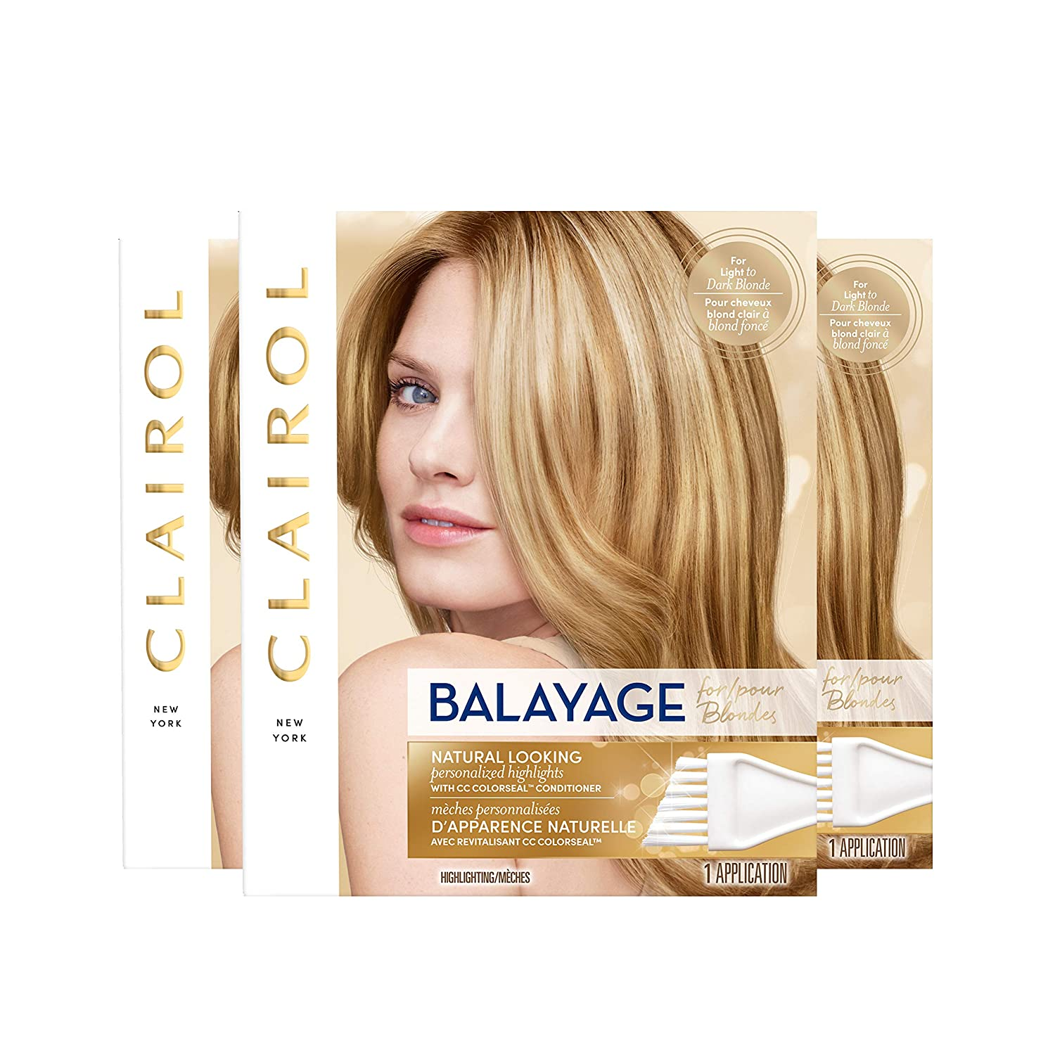 Clairol Nice'n Easy Balayage Permanent Hair Color, Blondes, 3 Count