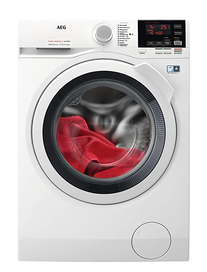 AEG L7WB65684 Waschtrockner / DualSense – schonende Pflege / 8,0 kg Waschen / 4,0 kg Trocknen / Energiesparend / Mengenautoma