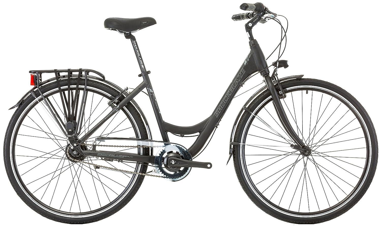 SHOCKBLAZE 28 Zoll Damen City Fahrrad 8 Gang Traffic, Farbe:Schwarz ...
