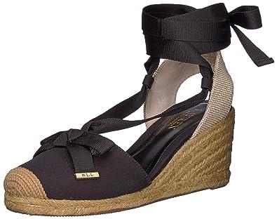 a809e2ebd0a Lauren Ralph Lauren Women s Hollie Espadrille Wedge Sandal  Amazon ...